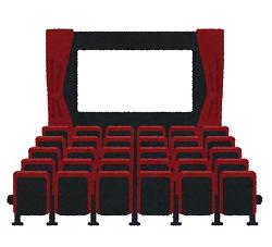 映画館の座席のイラスト