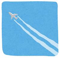 飛んでる飛行機のイラスト