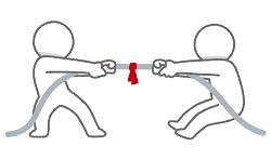 棒人間の綱引き