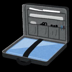 ノートパソコンを収納するイラスト