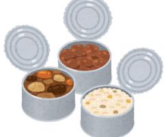 開いた缶詰のイラスト