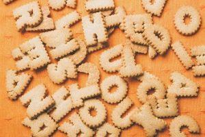ローマ字のクッキー